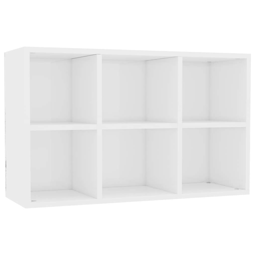 Book Cabinet/Sideboard High Gloss White 50x25x80 cm Chipboard 8