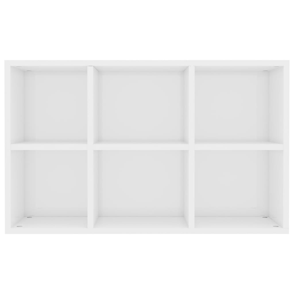 Book Cabinet/Sideboard High Gloss White 50x25x80 cm Chipboard 9