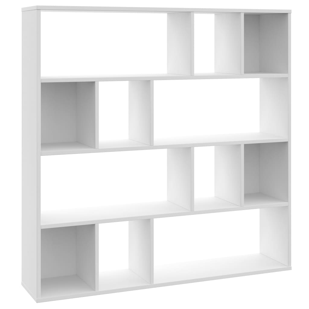 Room Divider/Book Cabinet White 110x24x110 cm Chipboard 2