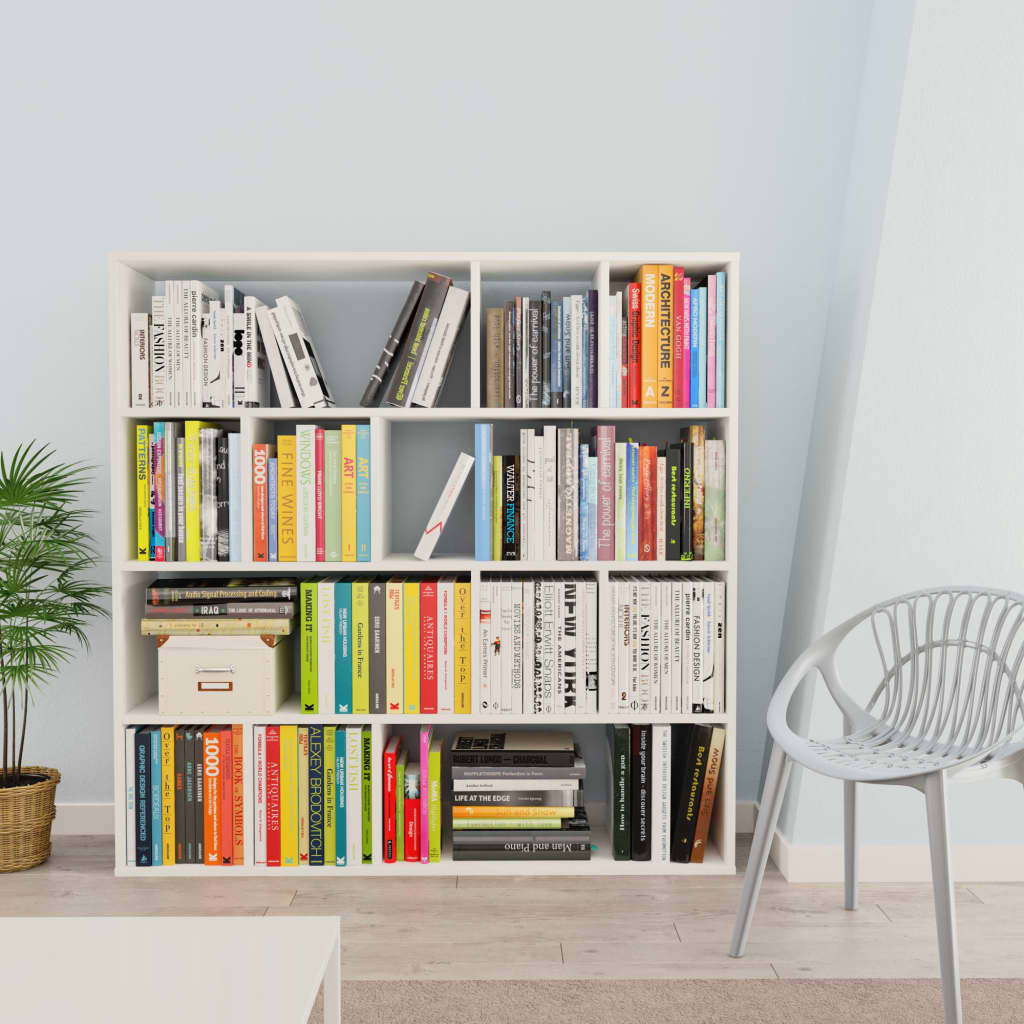 Room Divider/Book Cabinet White 110x24x110 cm Chipboard 3