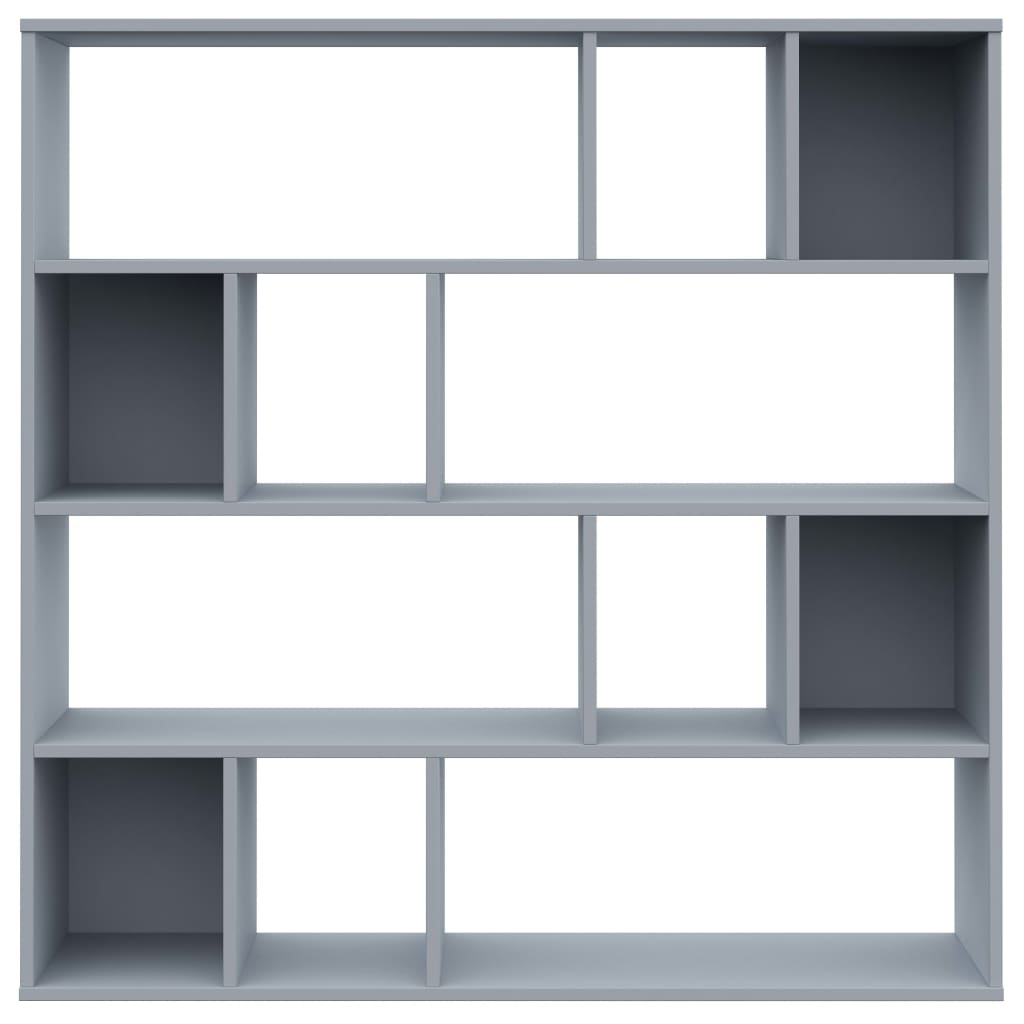 Room Divider/Book Cabinet Grey 110x24x110 cm Chipboard 5