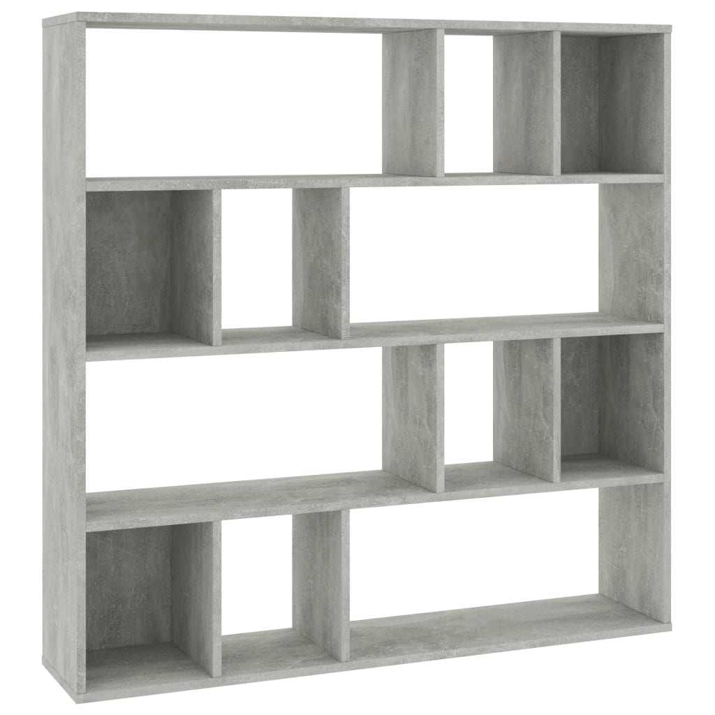 Room Divider/Book Cabinet Concrete Grey 110x24x110 cm Chipboard 2