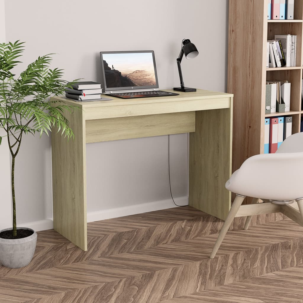 Desk Sonoma Oak 90x40x72 cm Chipboard