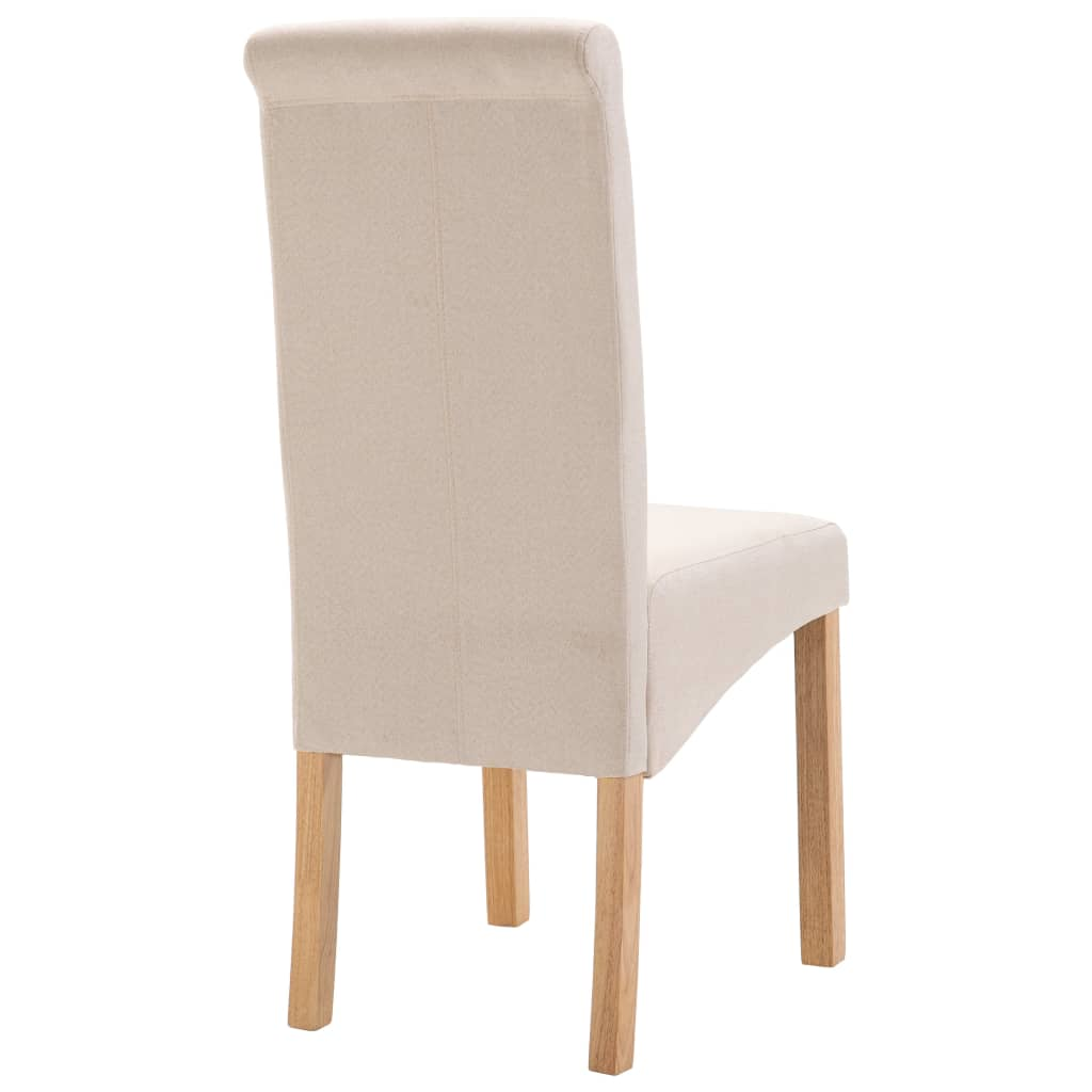 Dining Chairs 6 pcs Cream Fabric 6