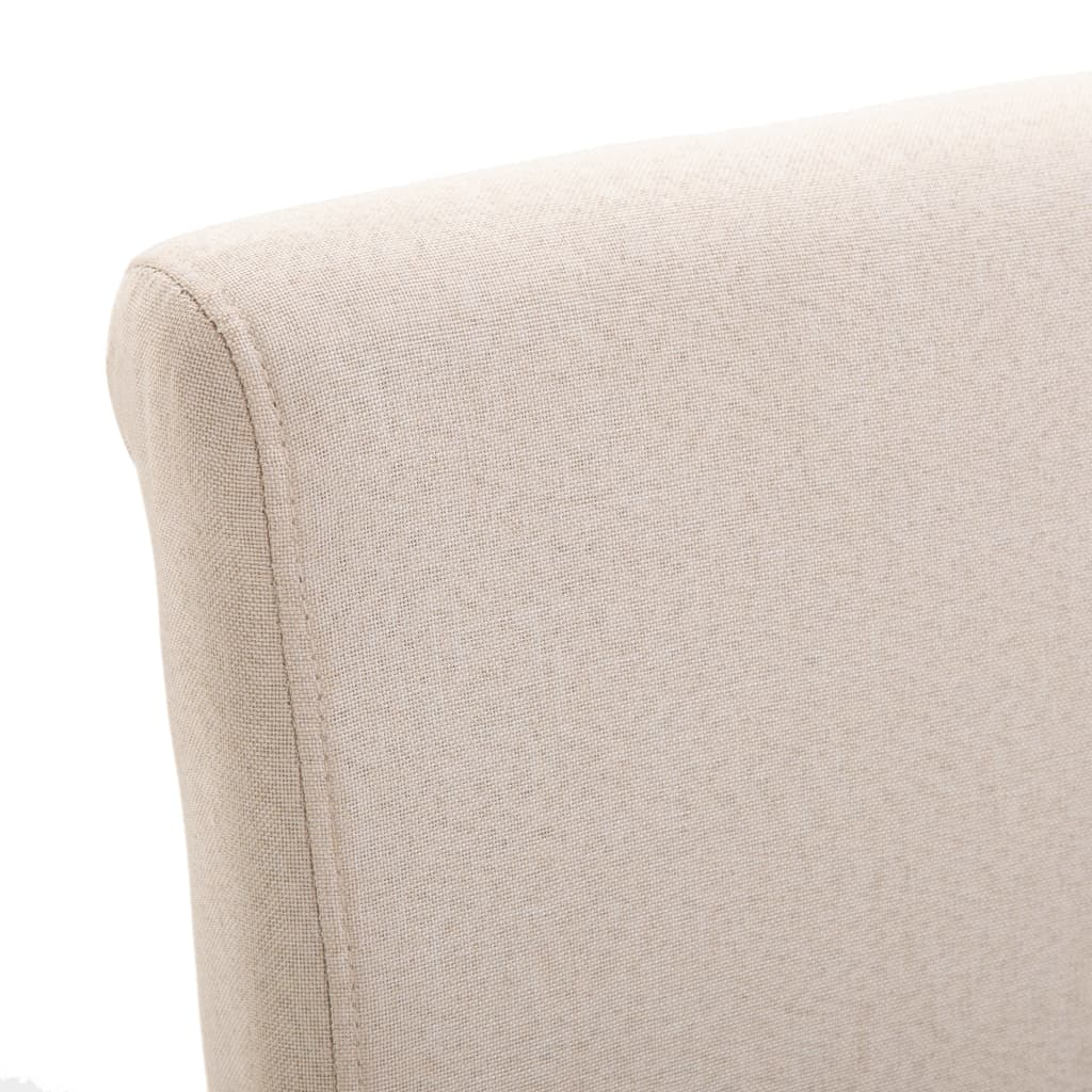 Dining Chairs 6 pcs Cream Fabric 7