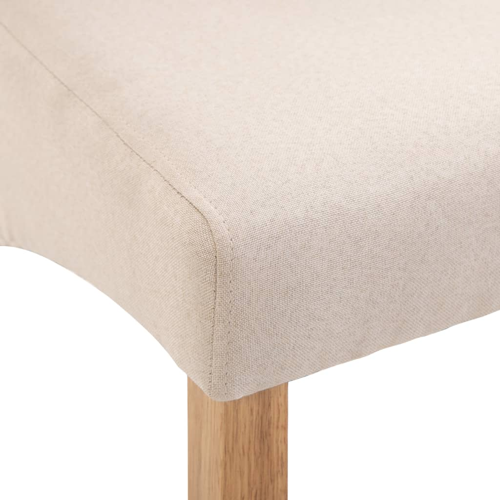 Dining Chairs 6 pcs Cream Fabric 8