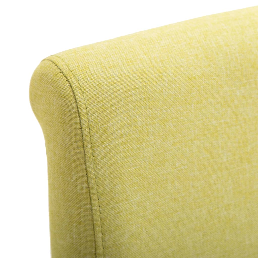 Dining Chairs 6 pcs Green Fabric 7