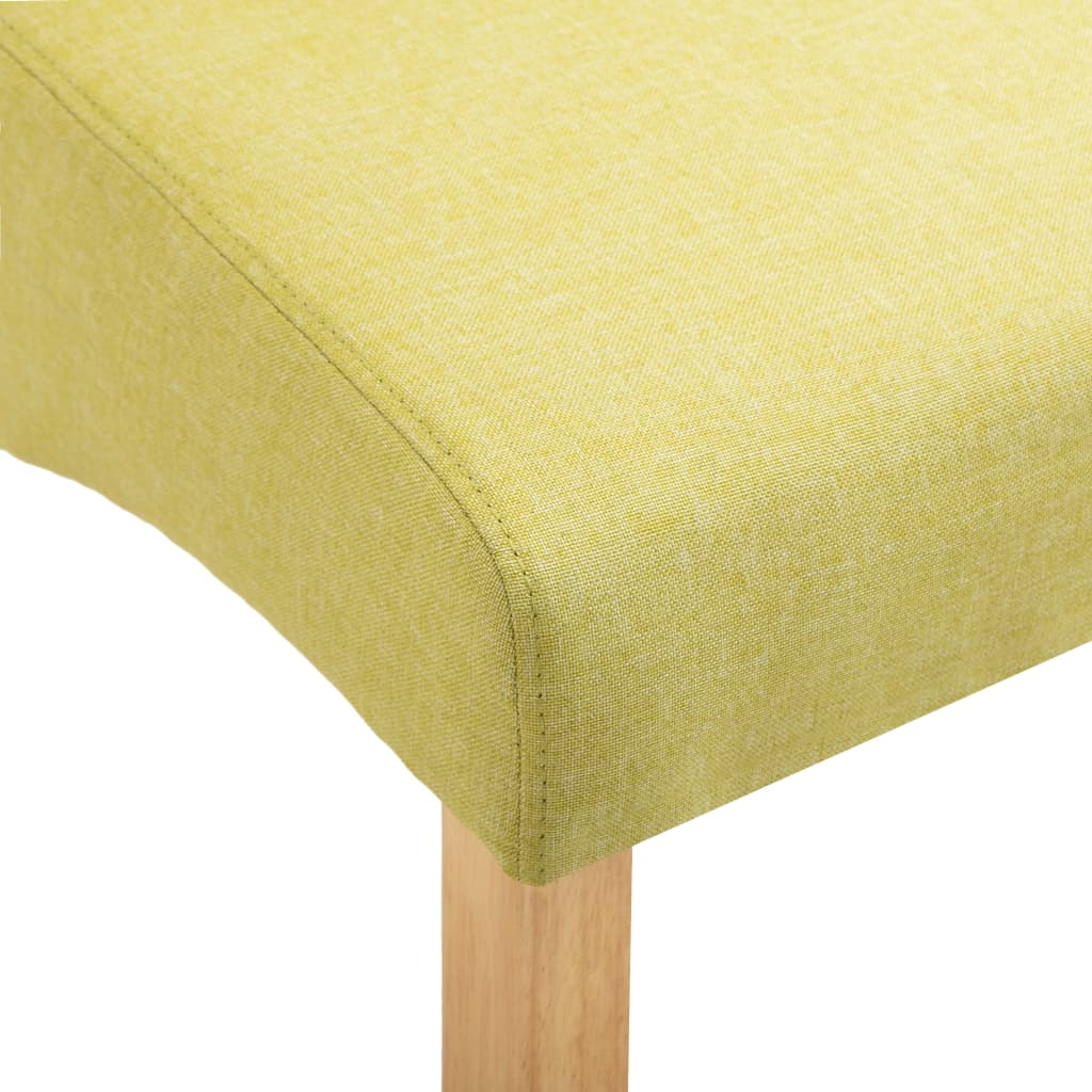 Dining Chairs 6 pcs Green Fabric 8