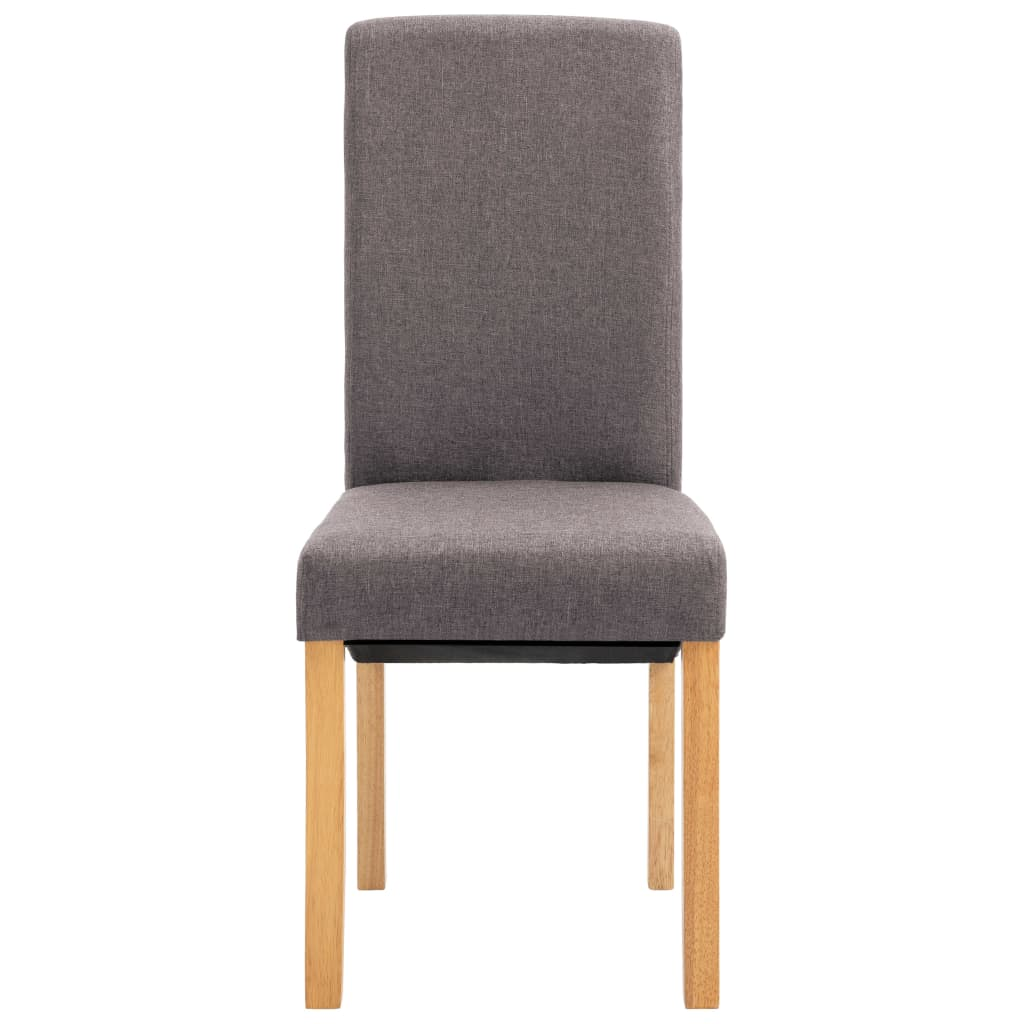 Dining Chairs 6 pcs Taupe Fabric 4