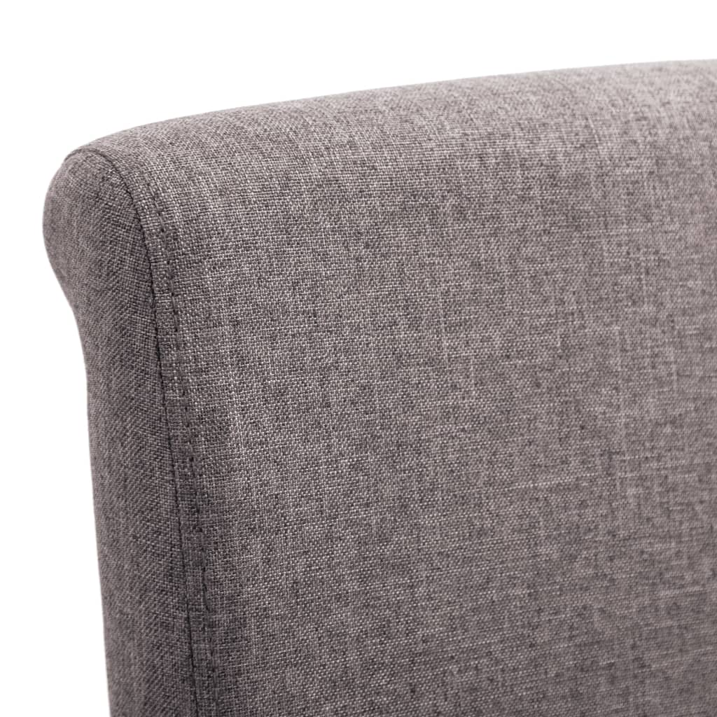 Dining Chairs 6 pcs Taupe Fabric 7