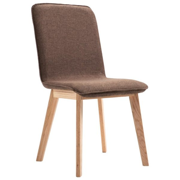 Dining Chairs 6 pcs Brown Fabric 4