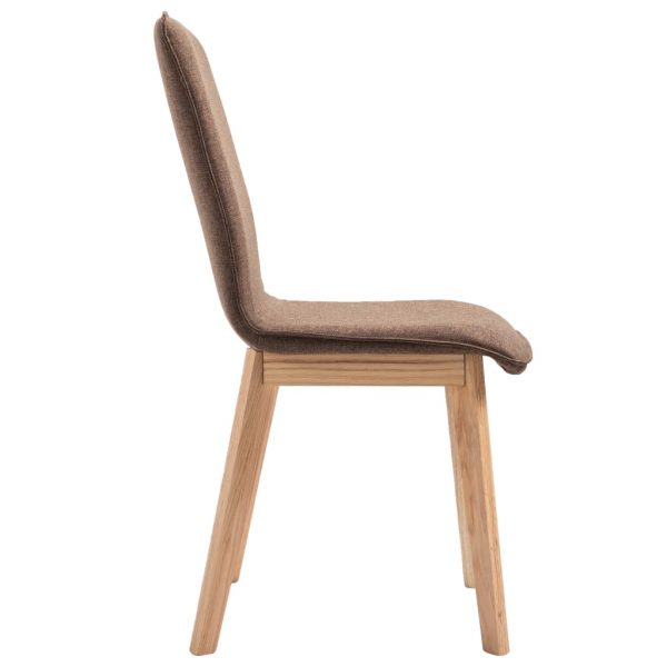 Dining Chairs 6 pcs Brown Fabric 6