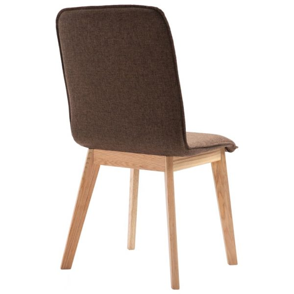 Dining Chairs 6 pcs Brown Fabric 7