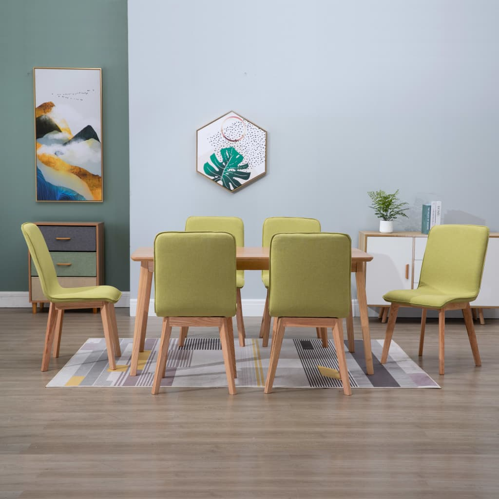 Dining Chairs 6 pcs Green