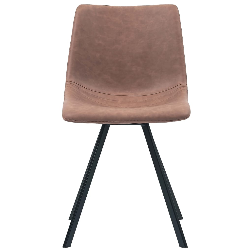 Dining Chairs 4 pcs Medium Brown Faux Leather 4