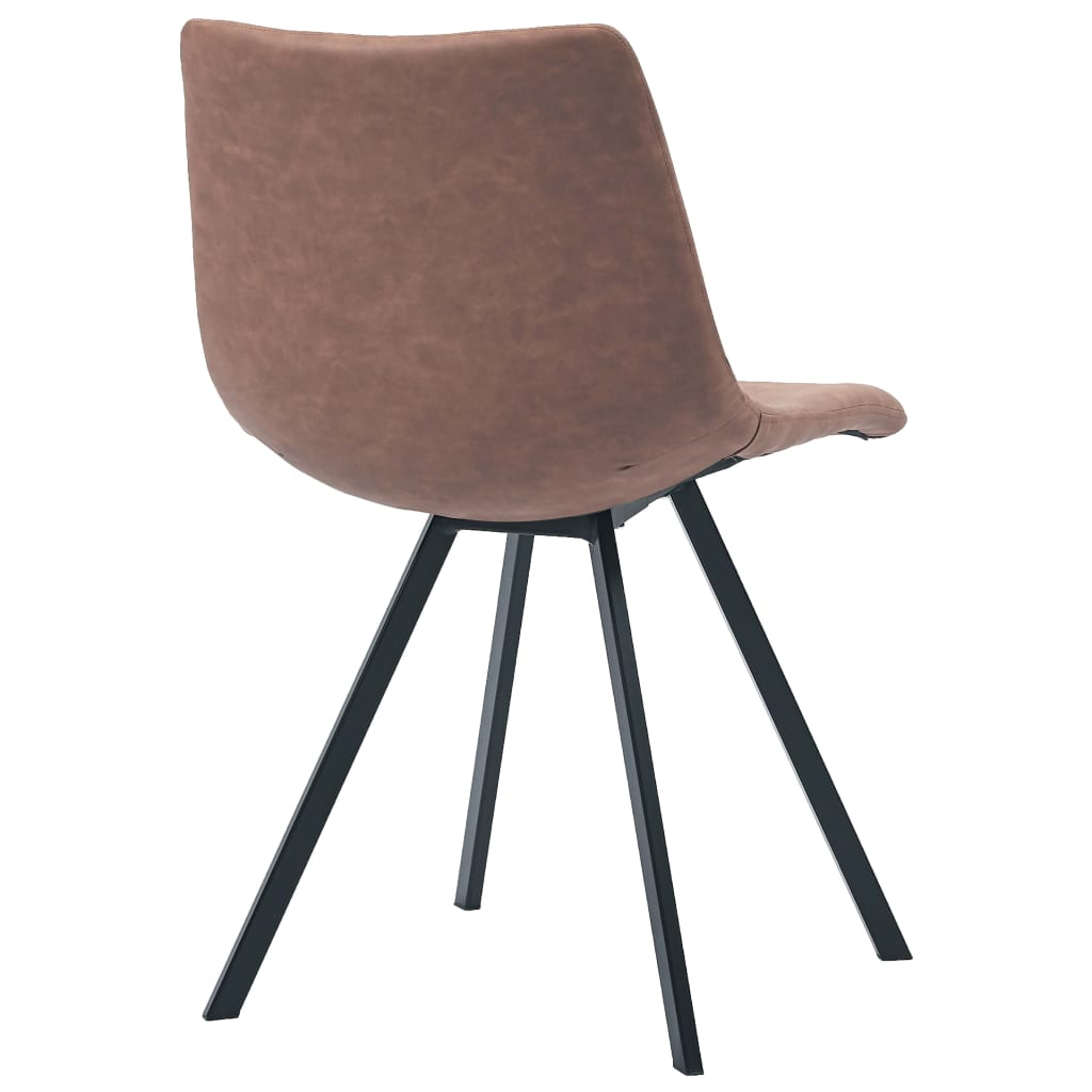 Dining Chairs 4 pcs Medium Brown Faux Leather 6