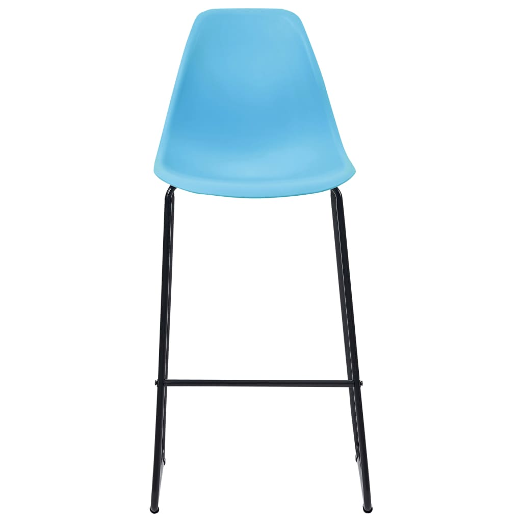 Bar Chairs 2 pcs Blue Plastic 3