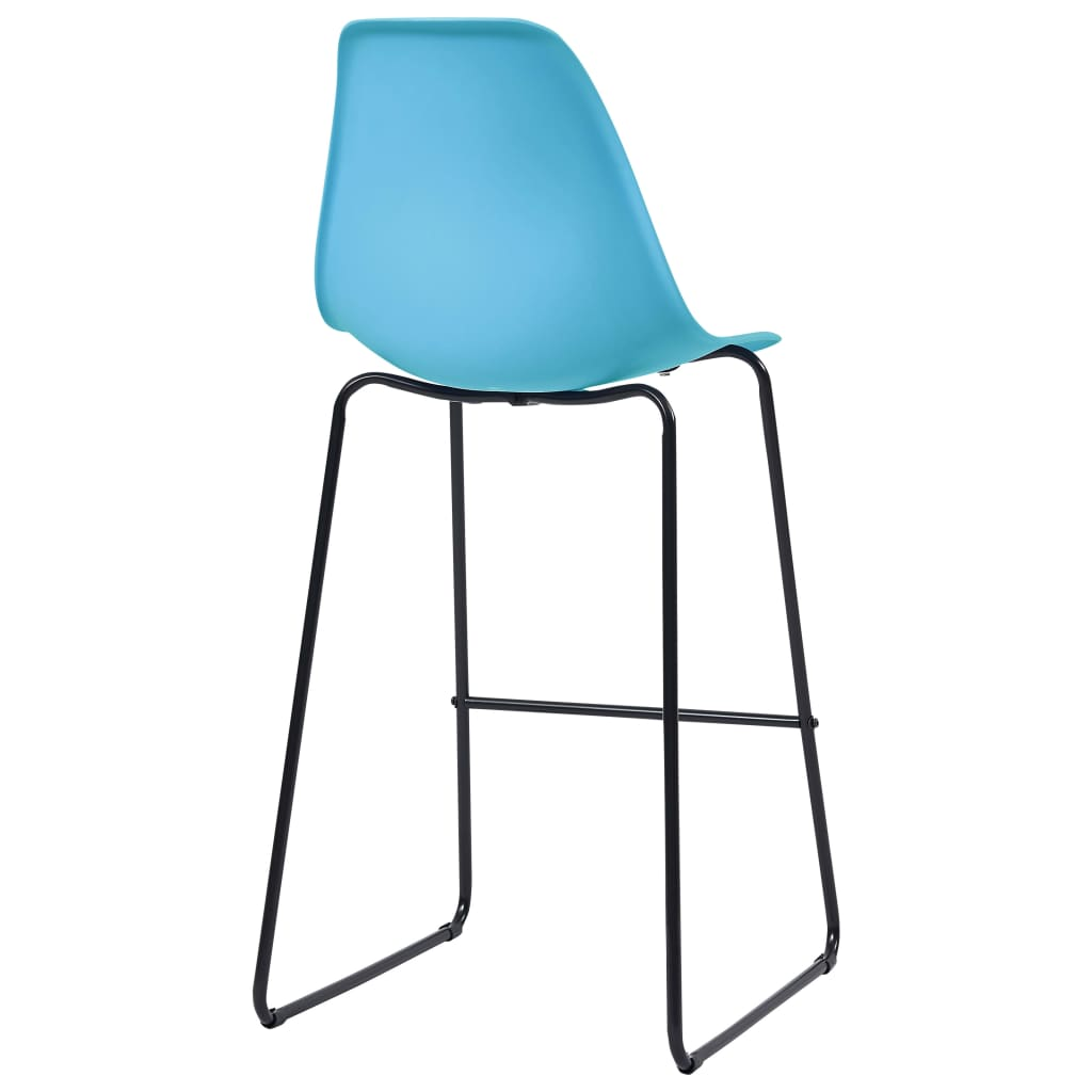 Bar Chairs 2 pcs Blue Plastic 5