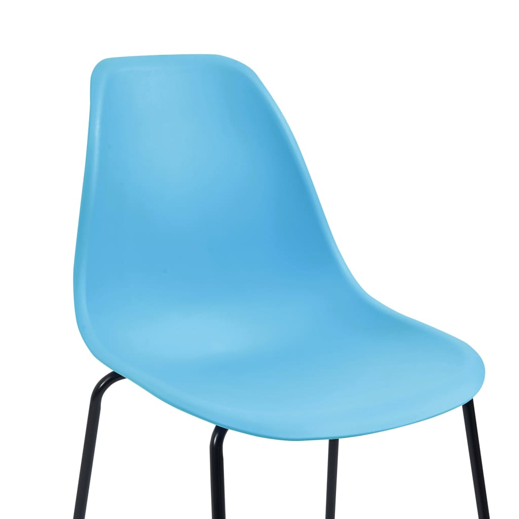 Bar Chairs 2 pcs Blue Plastic 6