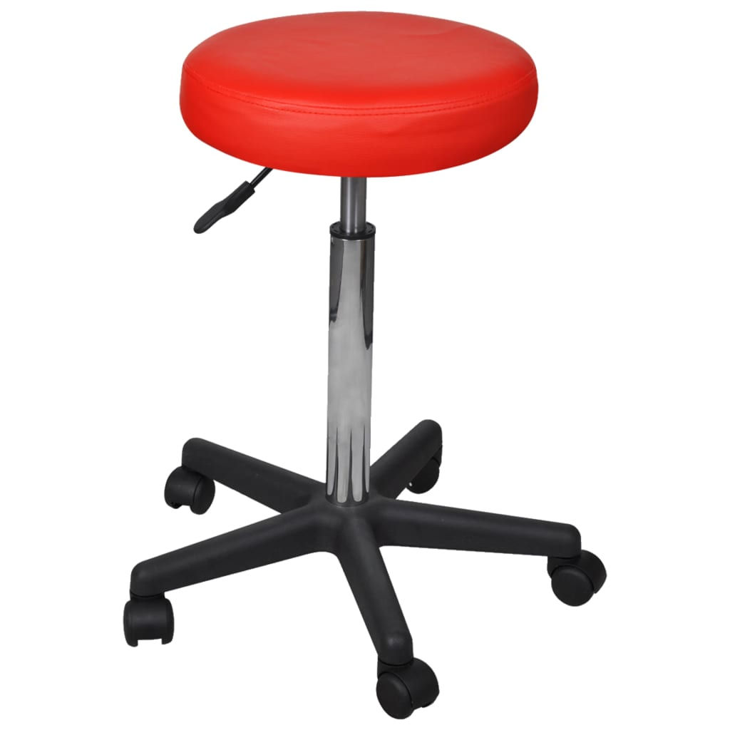 Office Stools 2 pcs Red 35