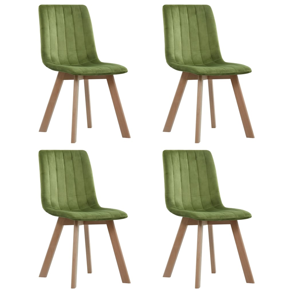 Dining Chairs 4 pcs Green Velvet