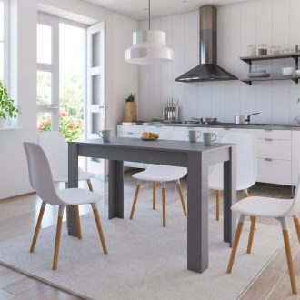 Dining Table Grey 120x60x76 cm Chipboard 1