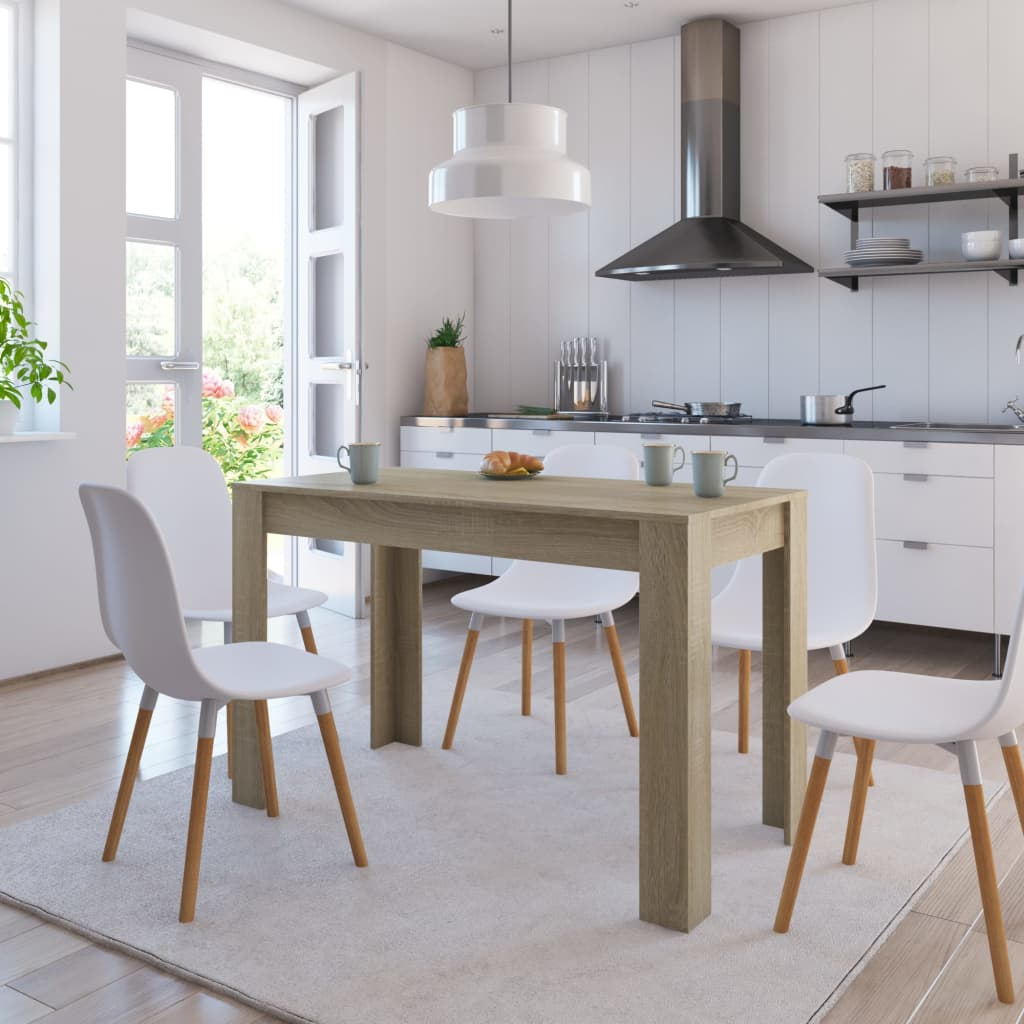 Dining Table Sonoma Oak 120x60x76 cm Chipboard 1