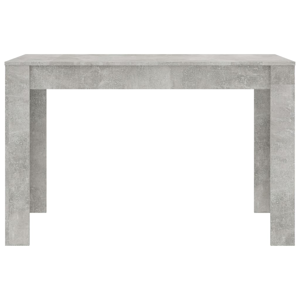 Dining Table Concrete Grey 120x60x76 cm Chipboard 4