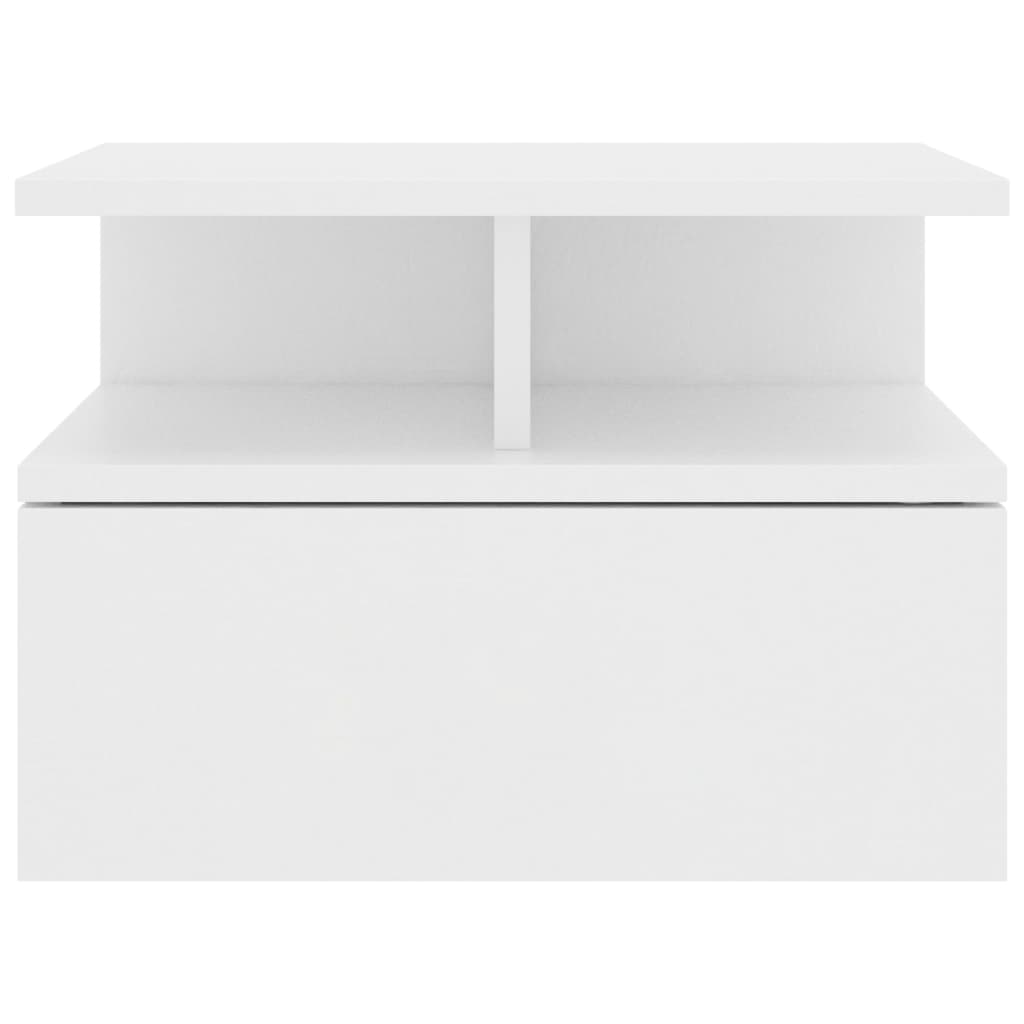 Floating Nightstand White 40x31x27 cm Chipboard 4