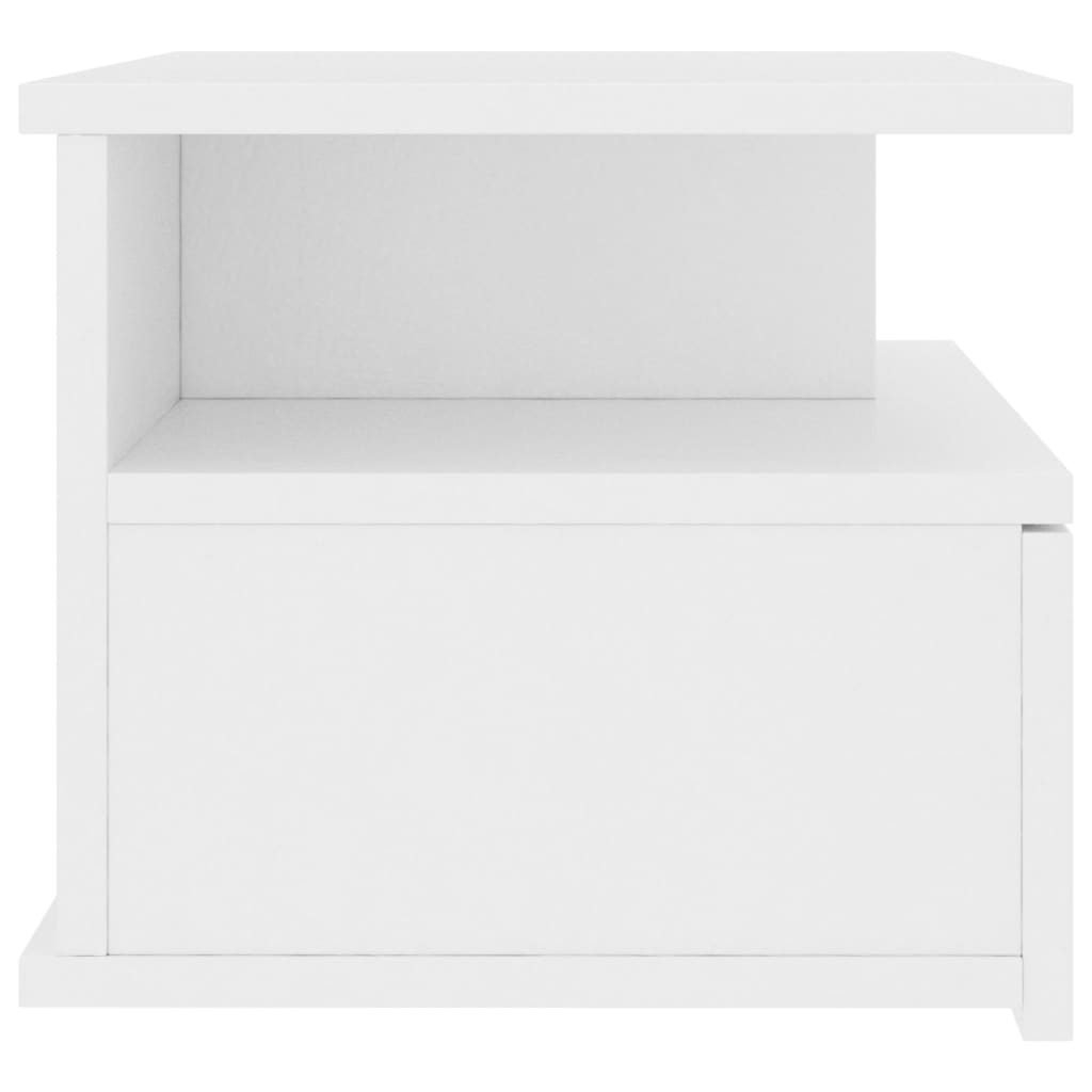 Floating Nightstand White 40x31x27 cm Chipboard 5