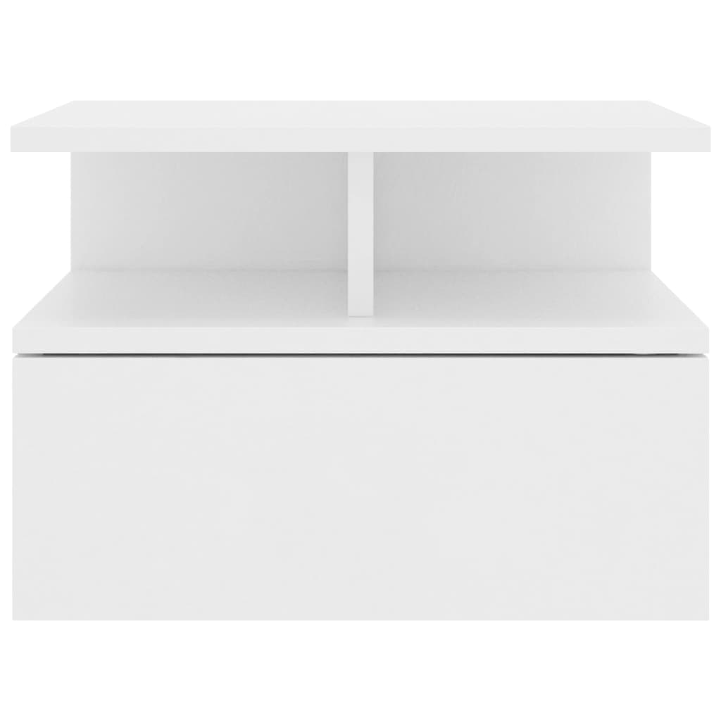 Floating Nightstands 2 pcs White 40x31x27 cm Chipboard 4