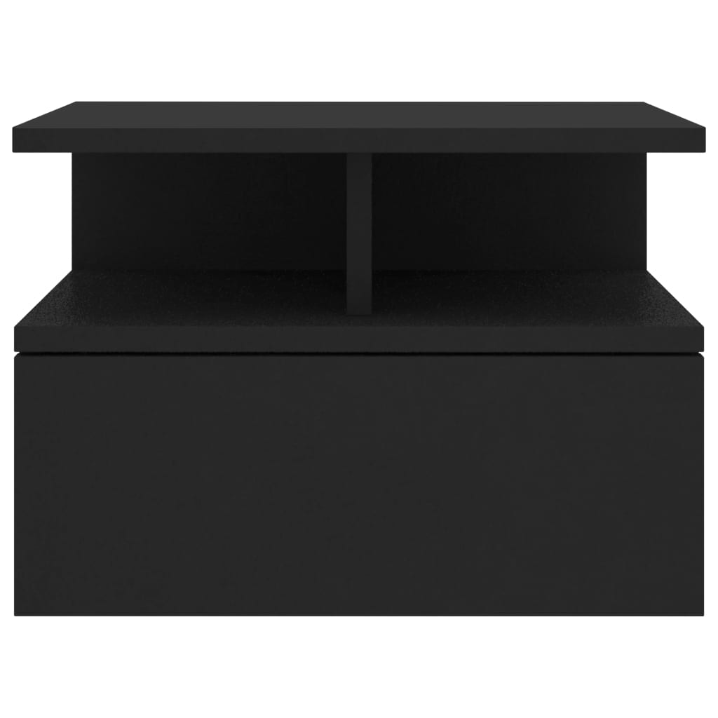 Floating Nightstand Black 40x31x27 cm Chipboard 4