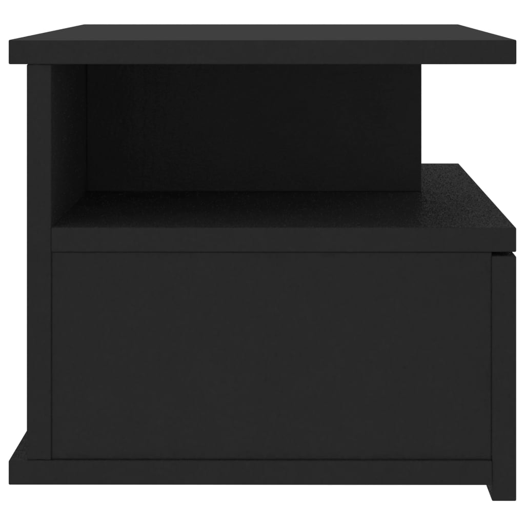 Floating Nightstand Black 40x31x27 cm Chipboard 5