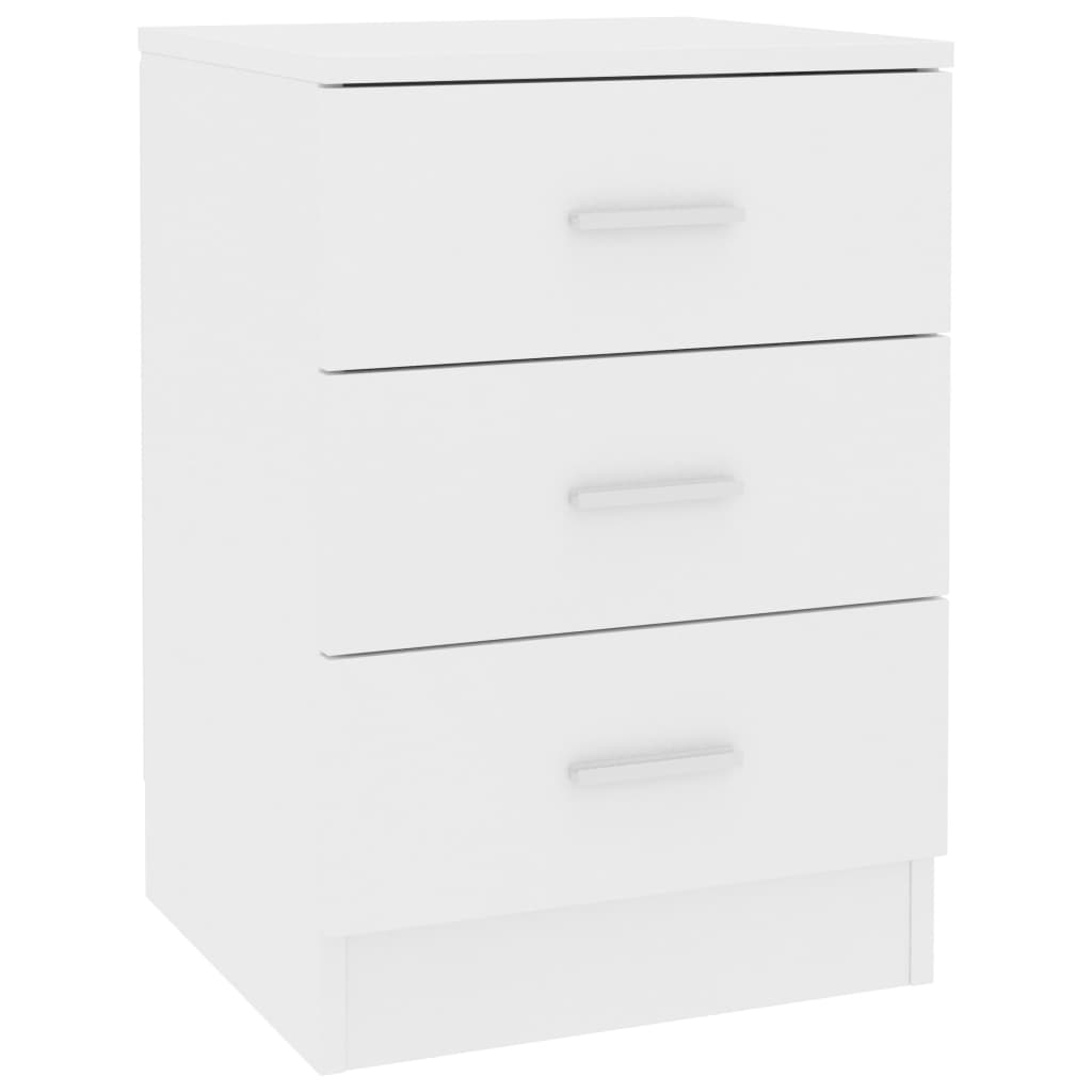 Bedside Cabinets 2 pcs White 38x35x56 cm Chipboard 4
