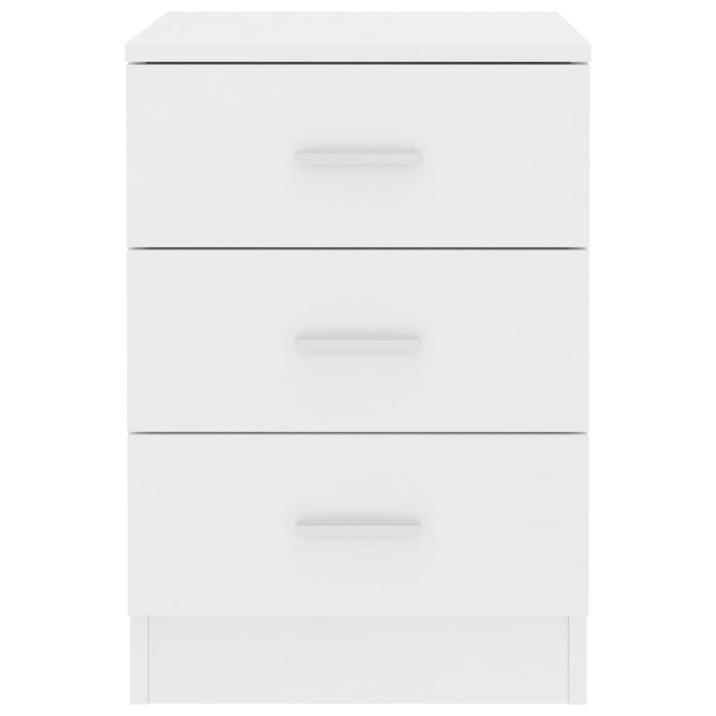 Bedside Cabinets 2 pcs White 38x35x56 cm Chipboard 5