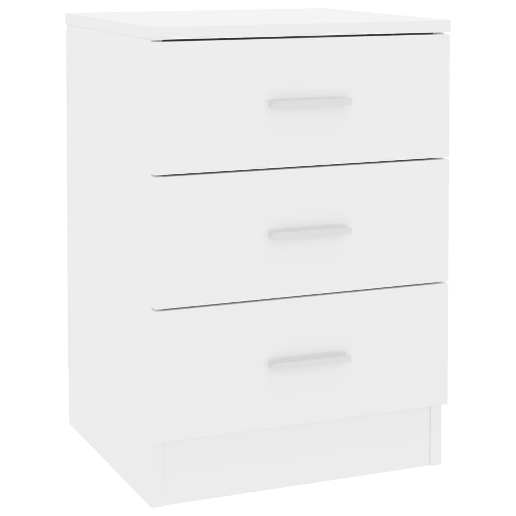 Bedside Cabinets 2 pcs High Gloss White 38x35x56 cm Chipboard 4