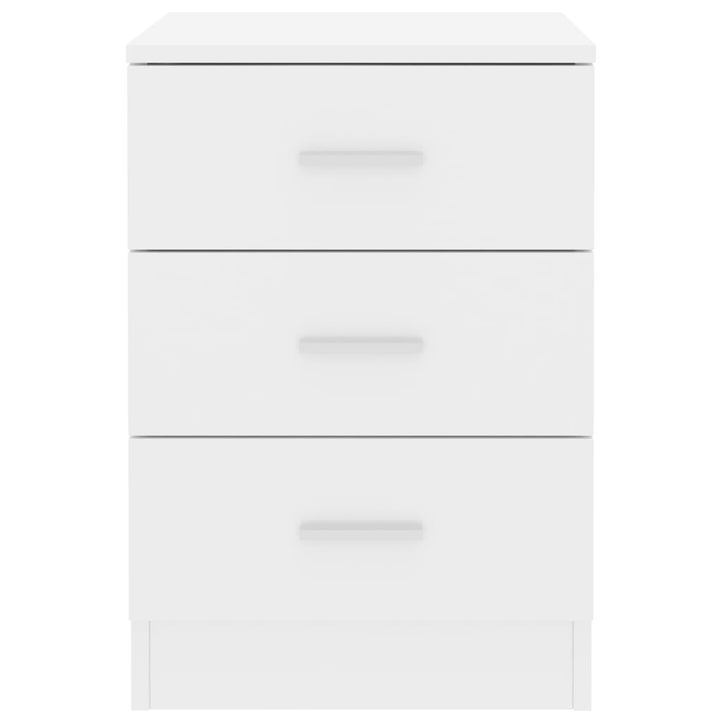 Bedside Cabinets 2 pcs High Gloss White 38x35x56 cm Chipboard 5