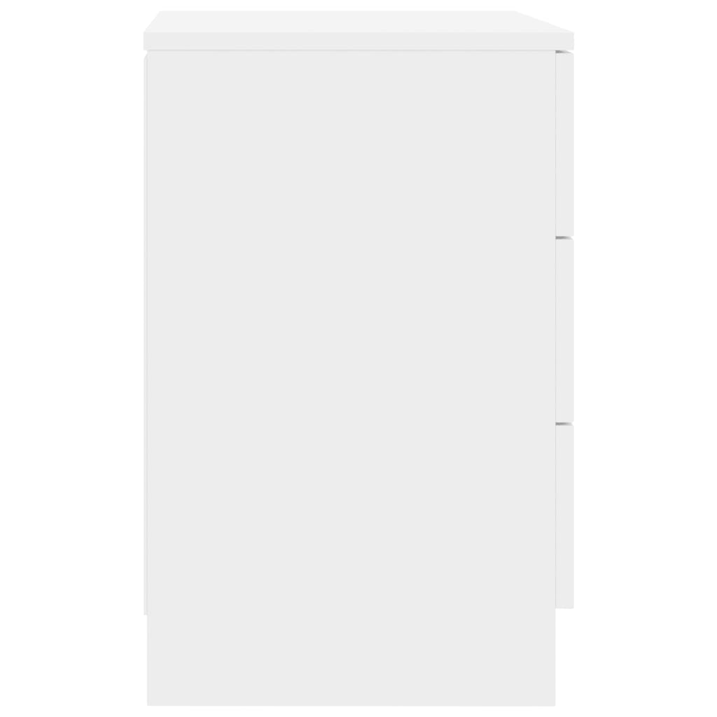 Bedside Cabinets 2 pcs High Gloss White 38x35x56 cm Chipboard 6
