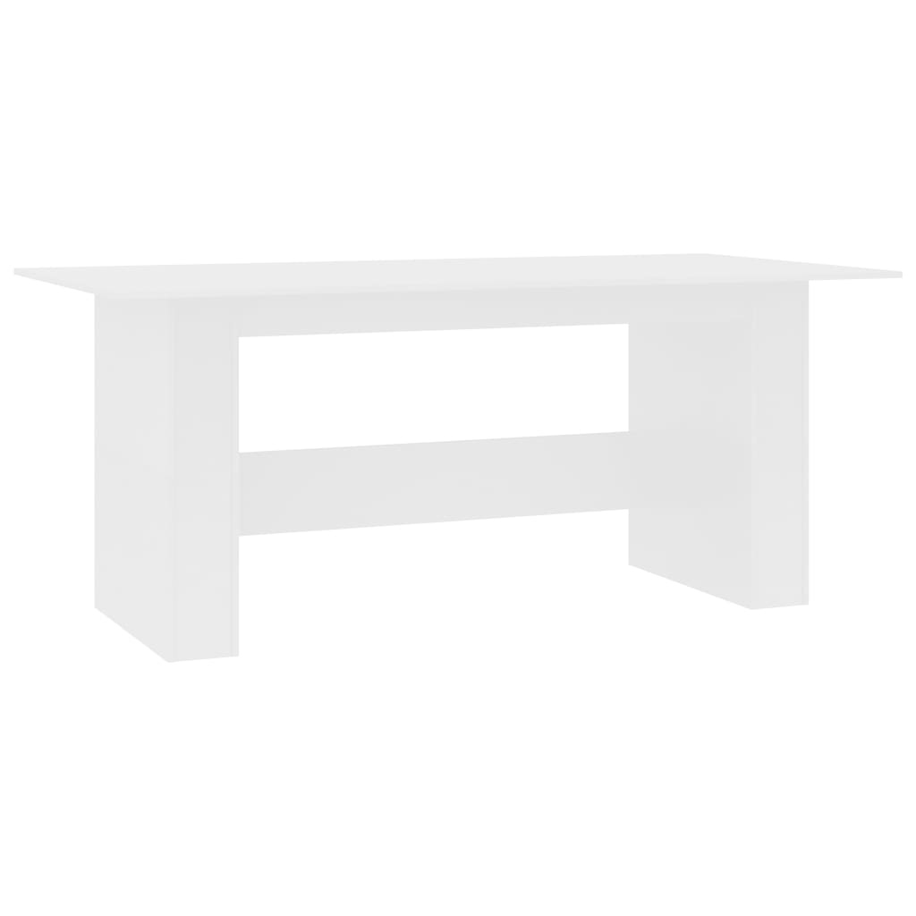 Dining Table White 180x90x76 cm Chipboard 2