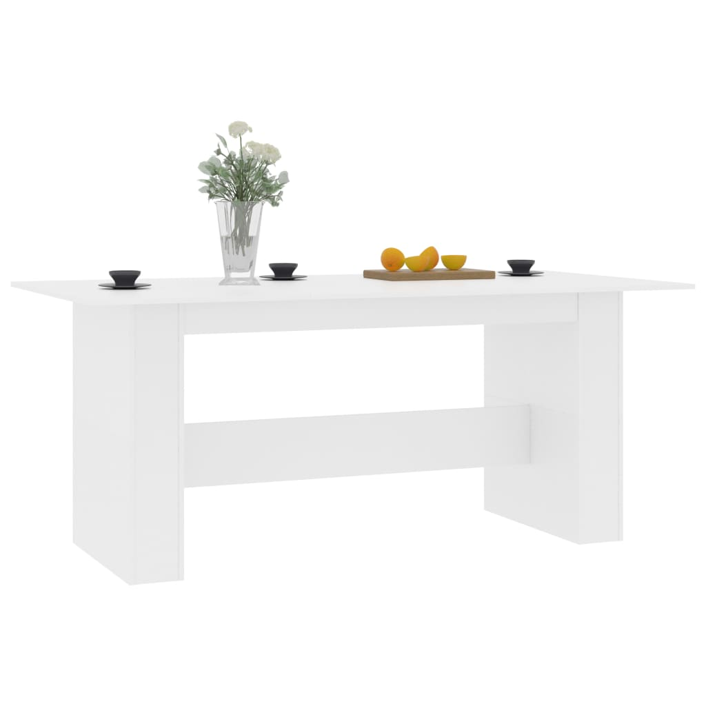 Dining Table White 180x90x76 cm Chipboard 3