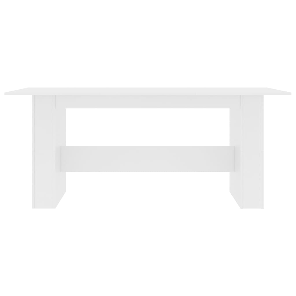Dining Table White 180x90x76 cm Chipboard 4