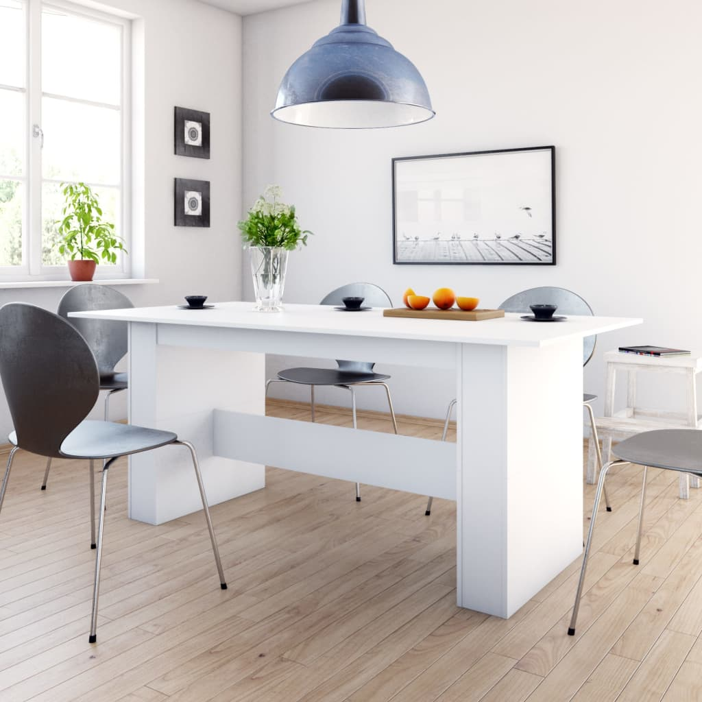Dining Table White 180x90x76 cm Chipboard