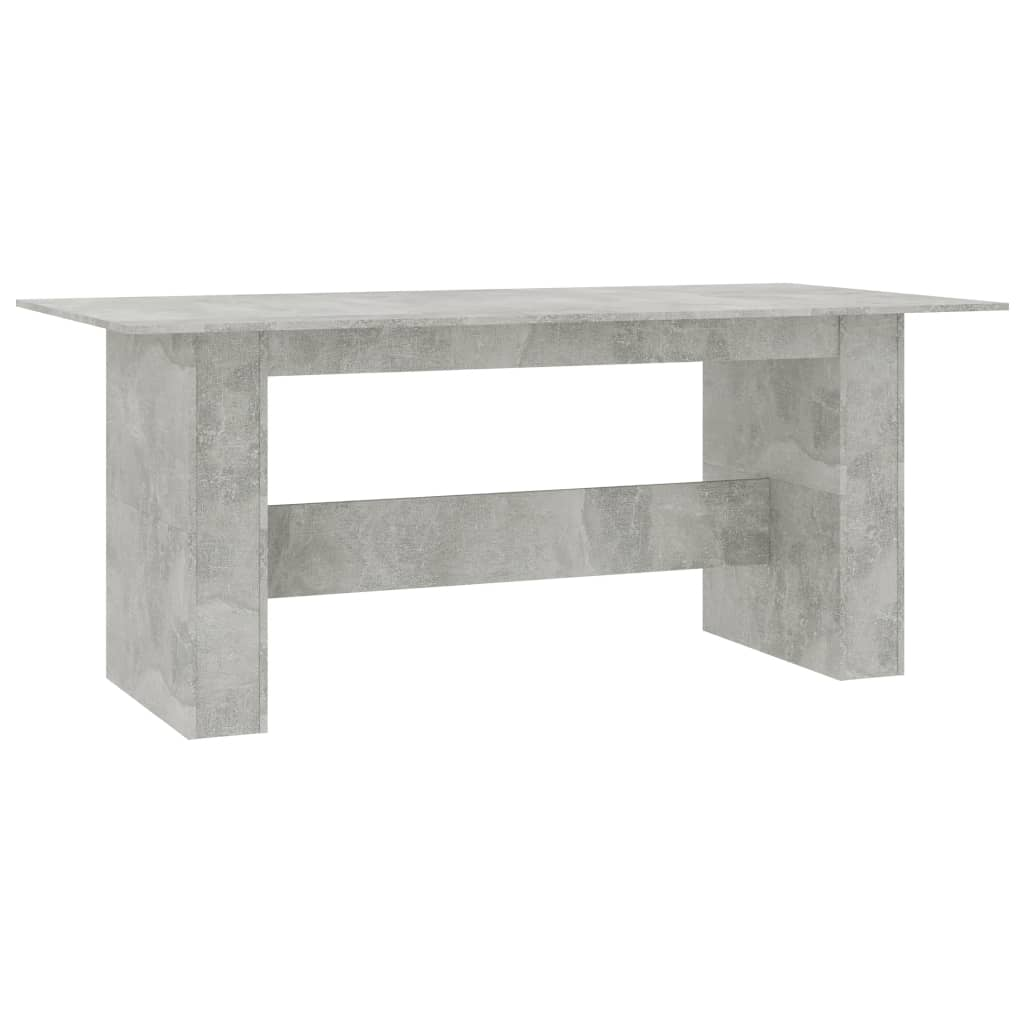 Dining Table Concrete Grey 180x90x76 cm Chipboard 3
