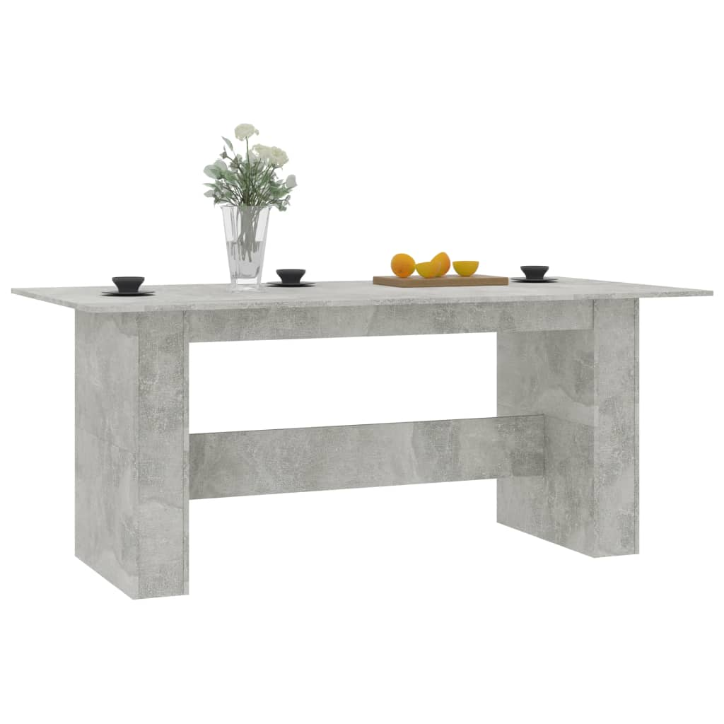 Dining Table Concrete Grey 180x90x76 cm Chipboard 4