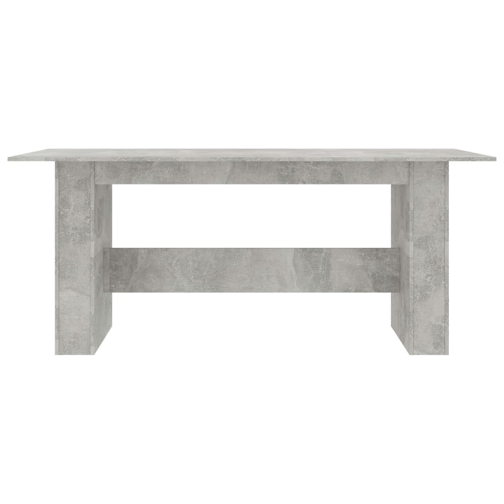 Dining Table Concrete Grey 180x90x76 cm Chipboard 5