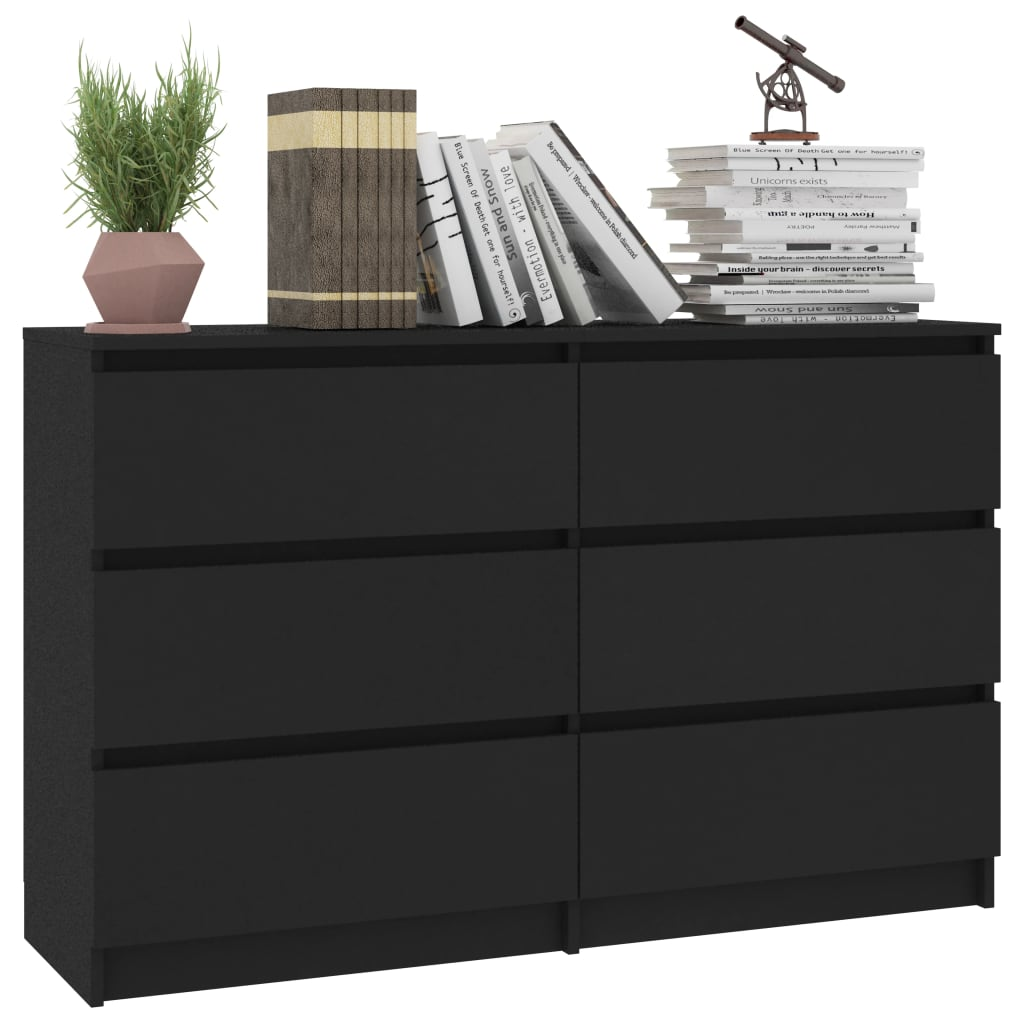 Sideboard Black 120x30x77 cm Chipboard 3