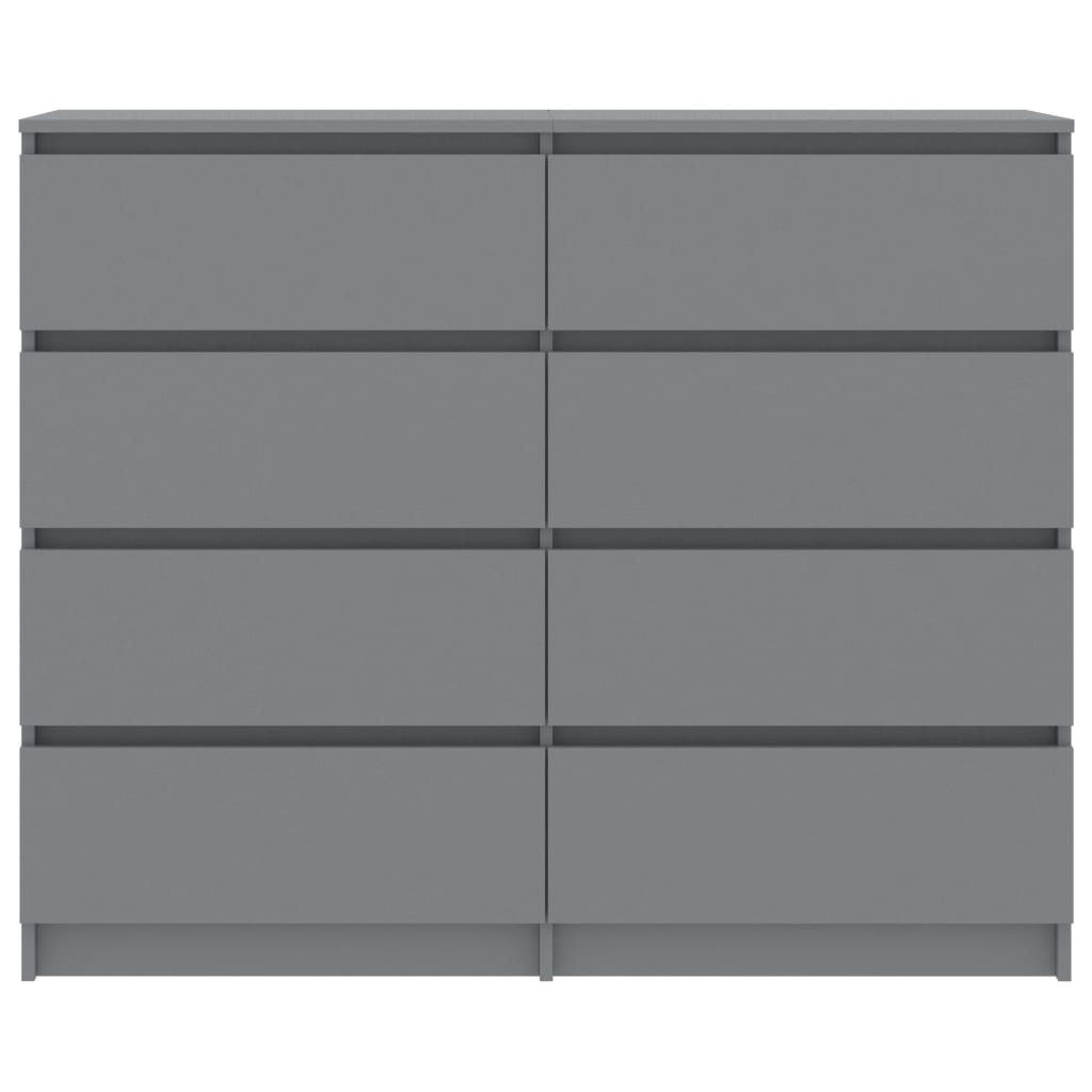 Drawer Sideboard Grey 120x35x97 cm Chipboard 4