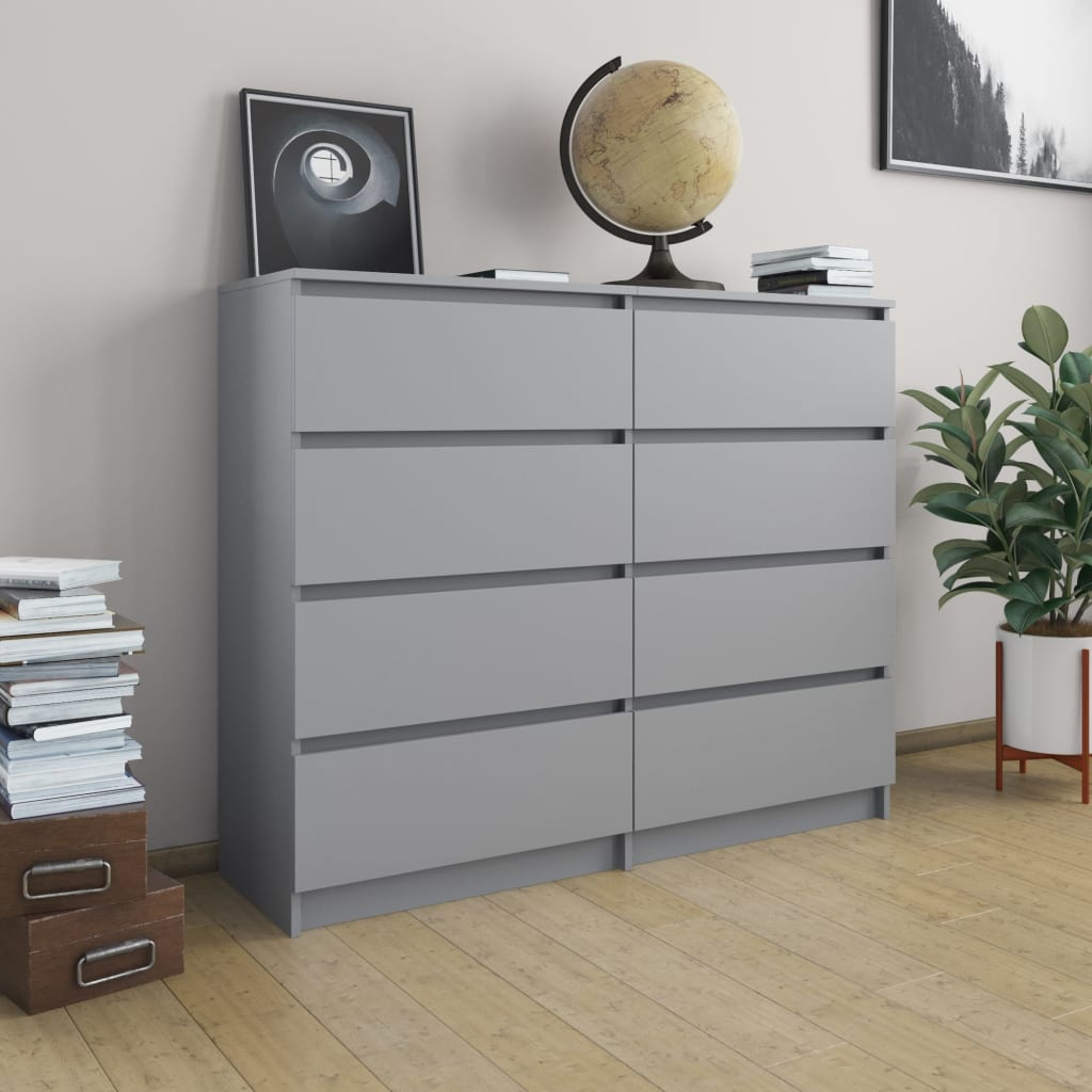 Drawer Sideboard Grey 120x35x97 cm Chipboard 1