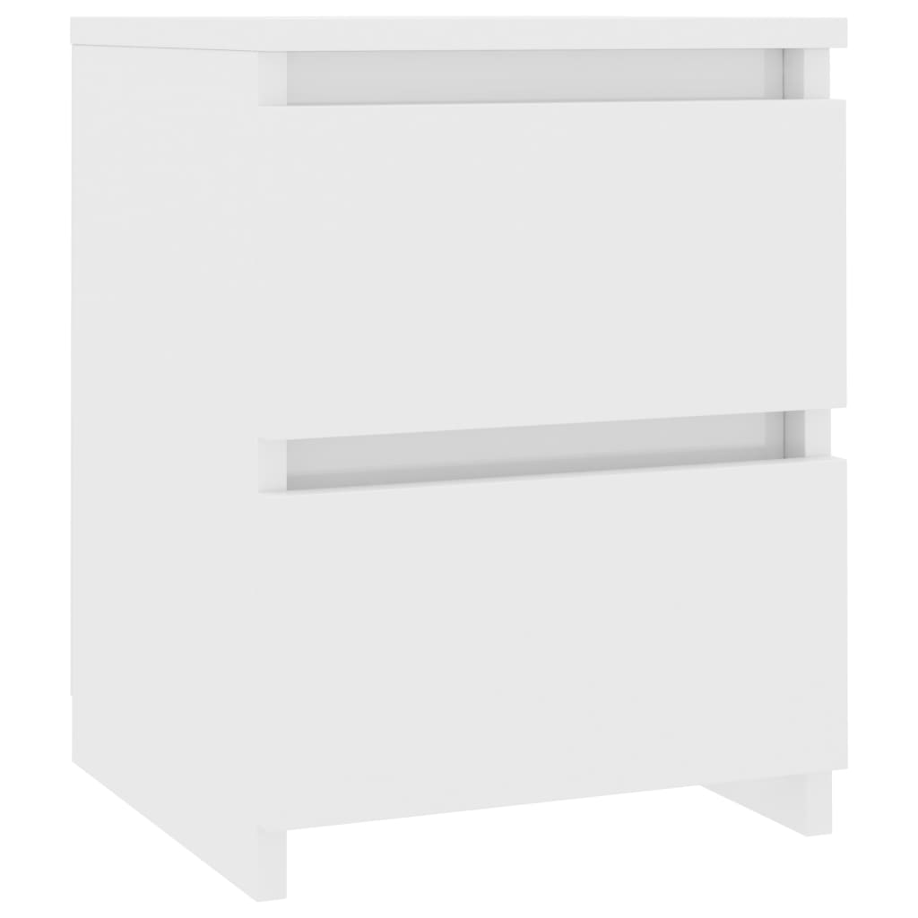 Bedside Cabinet High Gloss White 30x30x40 cm Chipboard 2