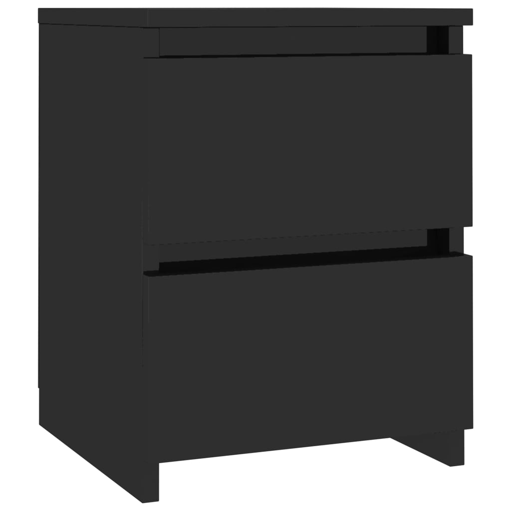 Bedside Cabinets 2 pcs High Gloss Black 30x30x40 cm Chipboard 4